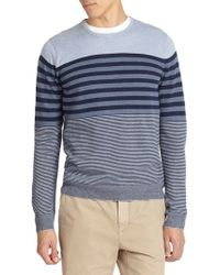 Vince Striped Crewneck Pullover - Lyst