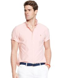 Polo Ralph Lauren Short-Sleeved Oxford Shirt - Lyst