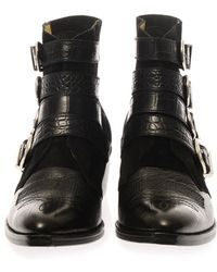 Toga Pulla - Suede and Leather Buckle Boots - Lyst