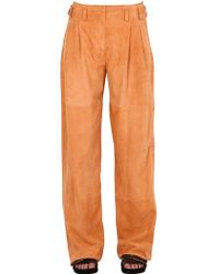 Trussardi | Suede Leather Pants | Lyst
