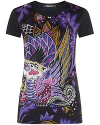 Roberto Cavalli Dragon Print T-shirt - Lyst