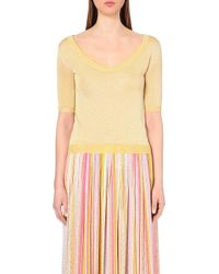 Missoni Metallic Knitted Scoop Neck Top - For Women - Lyst