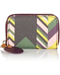 M Missoni - Printed Canvas Wallet - Lyst