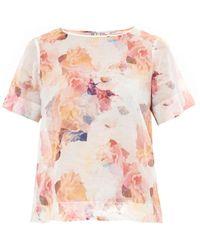 Rebecca Taylor Enchanted Garden Print Voile Tshirt - Lyst