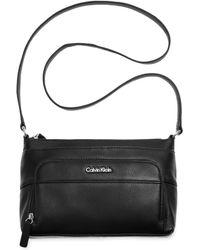 Calvin Klein Pebble Crossbody - Lyst
