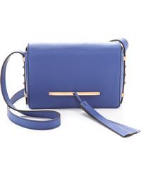 B Brian Atwood Bo Medium Cross Body Bag Cadet Blue - Lyst