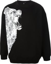 McQ by Alexander McQueen Wolf Print Sweatshirt - Lyst