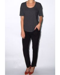 T By Alexander Wang Pima Cotton Charcoal Tee - Lyst
