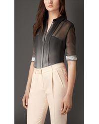 Burberry Dégradé Silk Shirt - Lyst