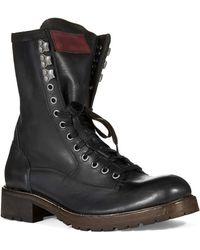 John Varvatos Gibbons Vintage Lace Up Boots - Lyst