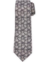 Alexander McQueen Silk Textured Spot Tie - Lyst
