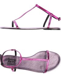 Avec Moderation Sandals purple - Lyst