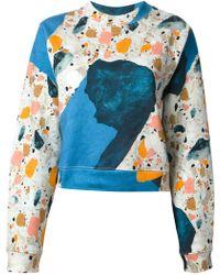 Acne Studios Terazzo Print Sweatshirt - Lyst