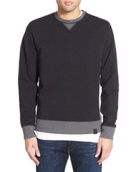 Victorinox - 'milestone' Brushed Crewneck Sweatshirt - Lyst