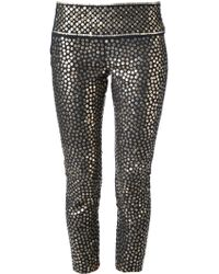 Isabel Marant Sequin Embellished Cropped Leggings - Lyst