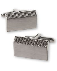 Kenneth Cole Reaction Slanted Rectangle Cufflinks - Lyst