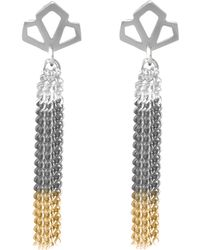 Anna Byers - Geo Long Tassel Earrings - Lyst