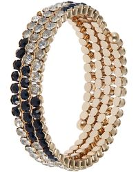Cara Stacked Stone Bangles - Lyst