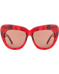 House of Harlow 1960 - Chelsea Sunglasses in Red - Lyst