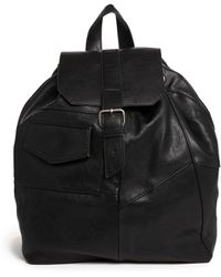 Pull&Bear - Patchwork Backpack in Black - Lyst