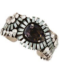 Dannijo Valentina Silvertone Multi-crystal Cuff - Lyst
