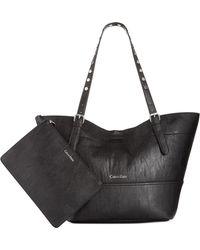 Calvin Klein Reversible Novelty Studded Handle Tote black - Lyst