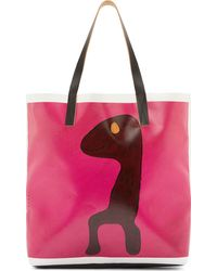 Marni Pink Pvc Bright Favaro Tote Bag - Lyst