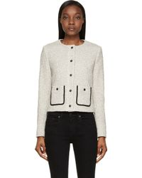 Rag & Bone Black And White Tweed Canon Jacket - Lyst