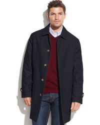 Tommy Hilfiger Single-Breasted Removable Liner Rain Coat - Lyst