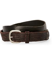 Transit - Scallop Punched Leather Belt - Lyst