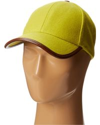 San Diego Hat Company Wool Cap with Faux Leather Trim - Lyst
