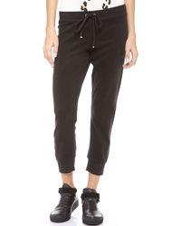 Juicy Couture Terry Slim Capri Pants - Lyst