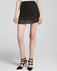 Joie Mini Skirt Loubelle Allover Embellishment - Lyst