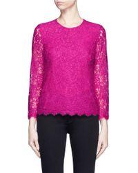 Diane von Furstenberg | 'brielle' Floral Guipure Lace Top | Lyst