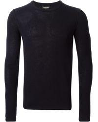 Emporio Armani Crew Neck Sweater - Lyst