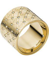 Michael Kors Logo Barrel Ring - Lyst