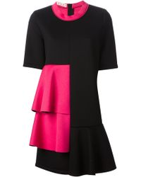 Marni Layered Peplum Dress - Lyst