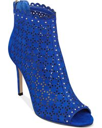 Marc Fisher Blue Sanish Booties - Lyst