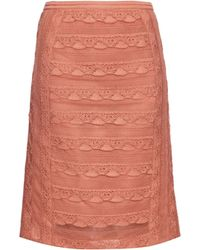 Burberry Prorsum - Tiered Lace Pencil Skirt - Lyst