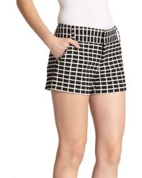 Alice + Olivia - Cady Textured Shorts - Lyst