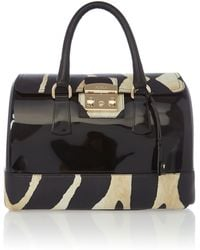 Furla Candy Multi Coloured Zebra Lock Bowling Bag - Lyst