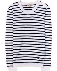 Burberry Brit - Striped Stretchknit Sweater - Lyst