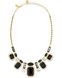 Kate Spade Art Deco Gems Graduated Necklace - Lyst