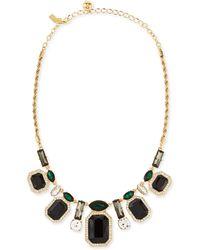 Kate Spade Art Deco Gems Graduated Necklace - Lyst