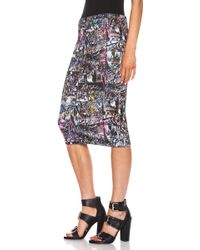 McQ by Alexander McQueen Black Contour Skirt - Lyst
