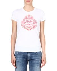 Juicy Couture Logoprint Tshirt White - Lyst