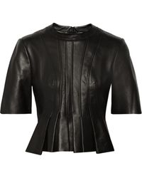 Alexander Wang Pleated Leather Top - Lyst