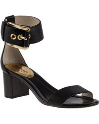 MICHAEL Michael Kors Calder Ankle Strap Sandal Black Leather - Lyst