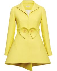 Delpozo Lemon Yellow Double Paper Twill Jacket - Lyst