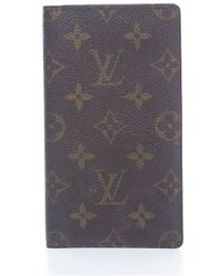 Louis Vuitton Pre-Owned Monogram Canvas Checkbook Cover - Lyst
